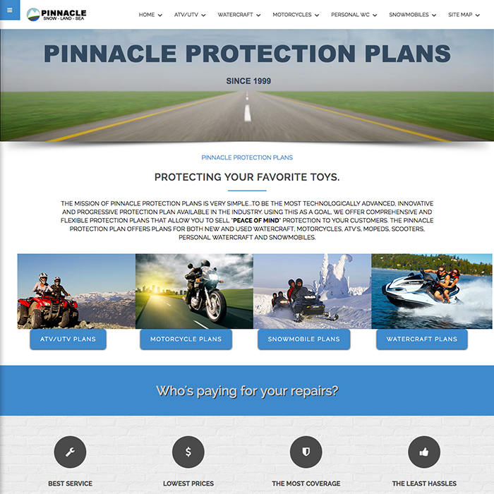 Pinnacle Protection Plans Website