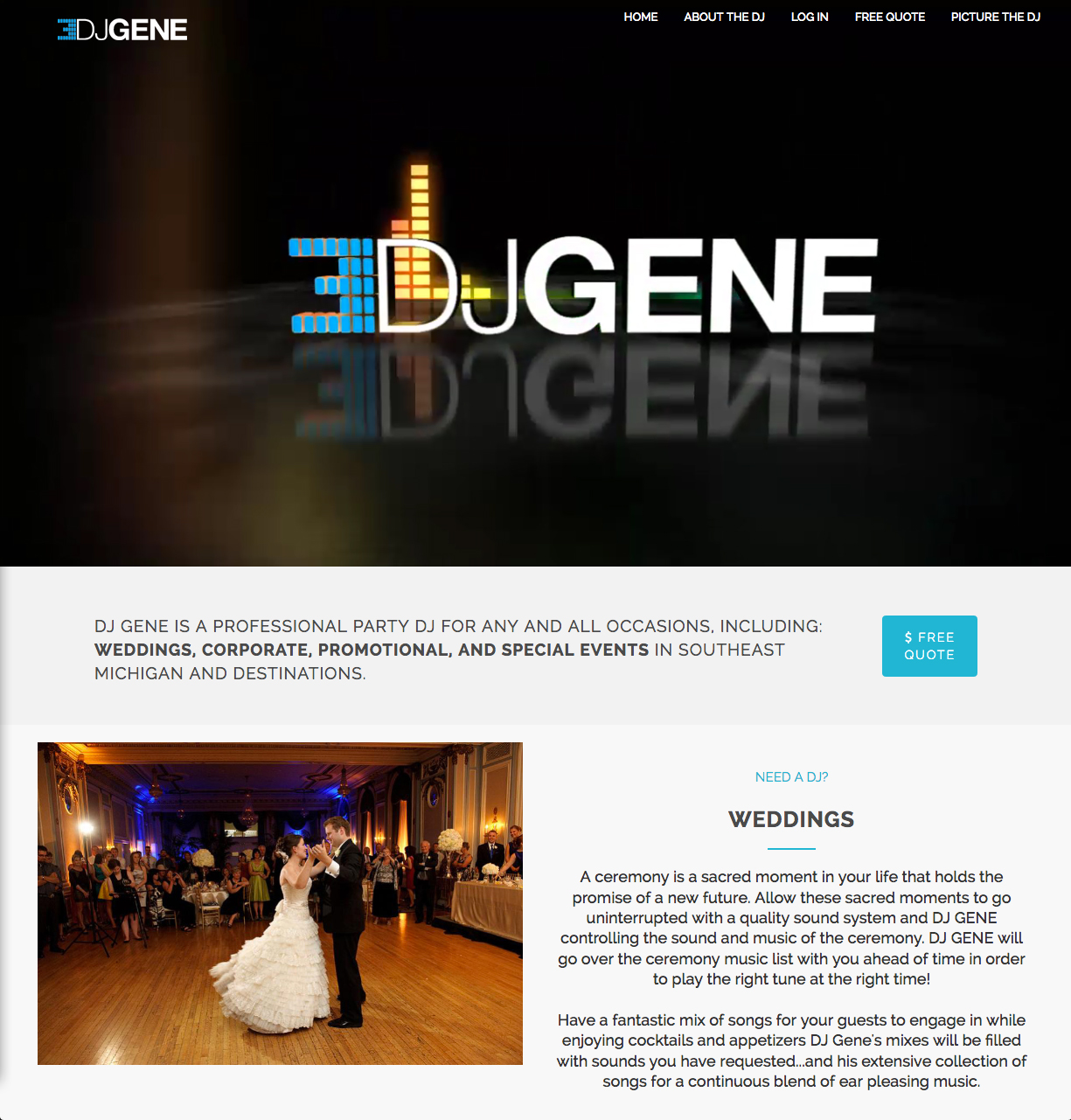 DJ Gene Website