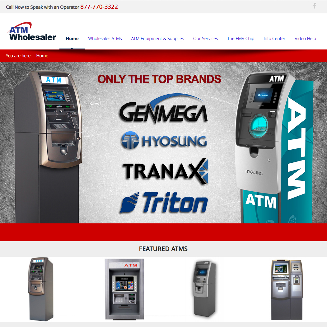ATM Wholesalers Website