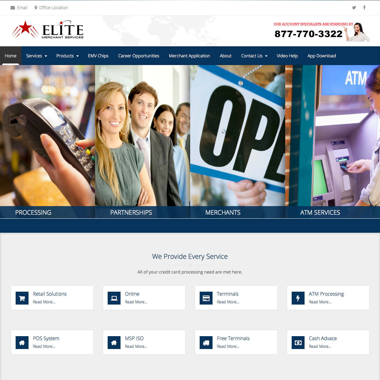 Elite Merchant Services Website