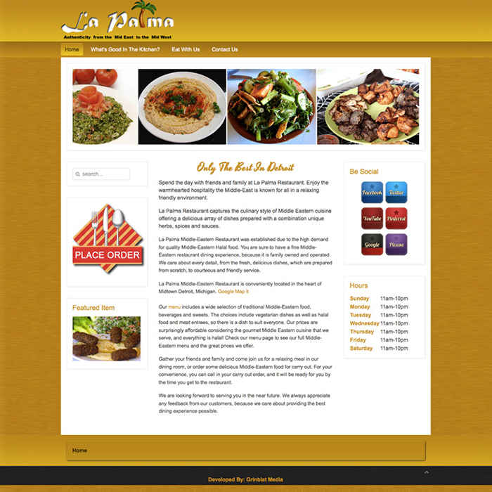 La Palma Restaurant Website