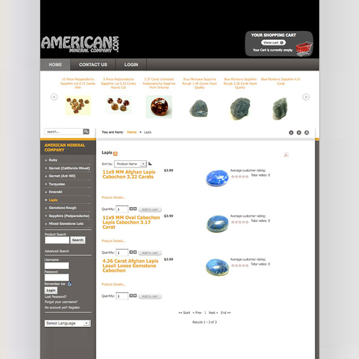 The American Mineral Company Website